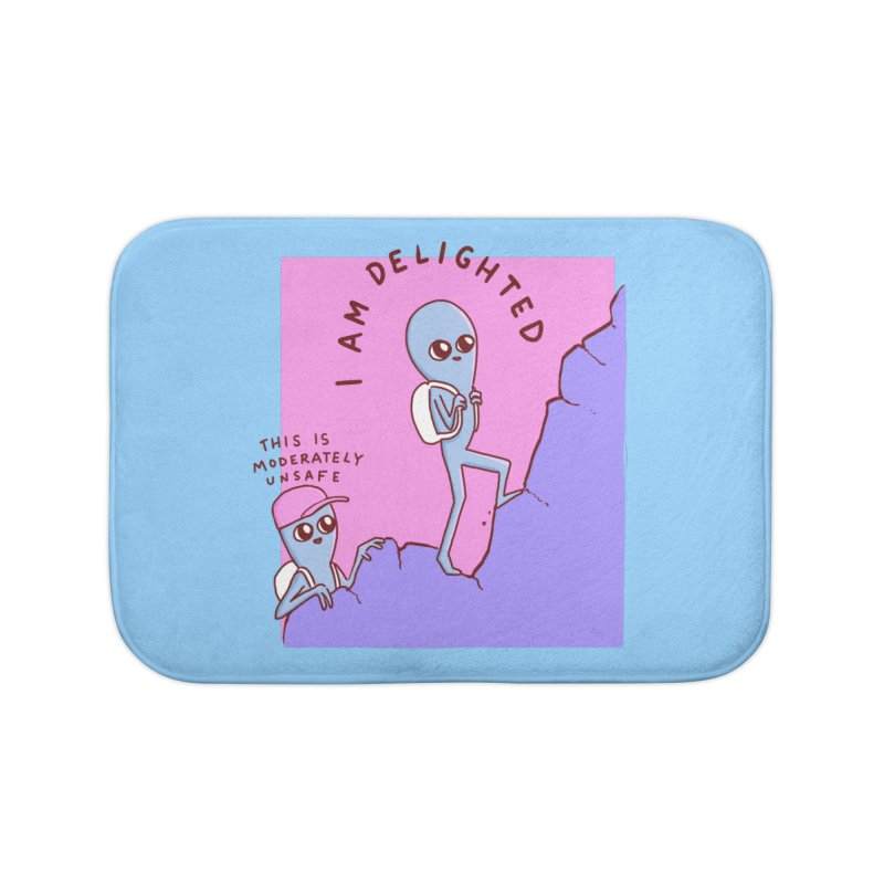 STRANGE PLANET SPECIAL PRODUCT: MODERATELY UNSAFE Home Bath Mat by Nathan W Pyle