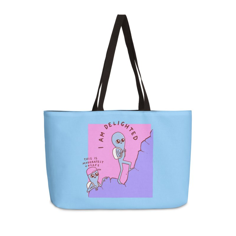 STRANGE PLANET SPECIAL PRODUCT: MODERATELY UNSAFE Accessories Weekender Bag Bag by Nathan W Pyle