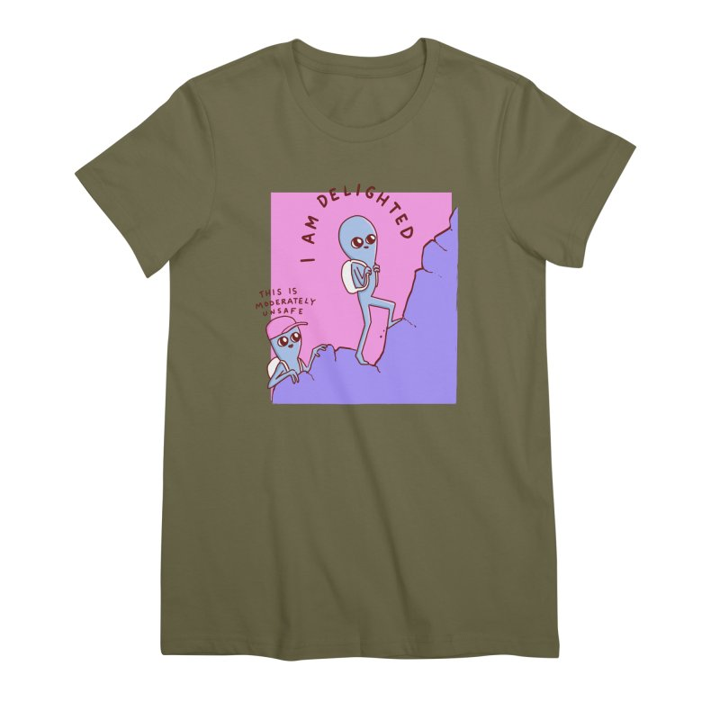 STRANGE PLANET SPECIAL PRODUCT: MODERATELY UNSAFE Women's T-Shirt by Nathan W Pyle