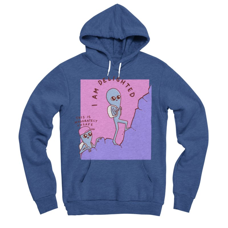 STRANGE PLANET SPECIAL PRODUCT: MODERATELY UNSAFE Women's Sponge Fleece Pullover Hoody by Nathan W Pyle