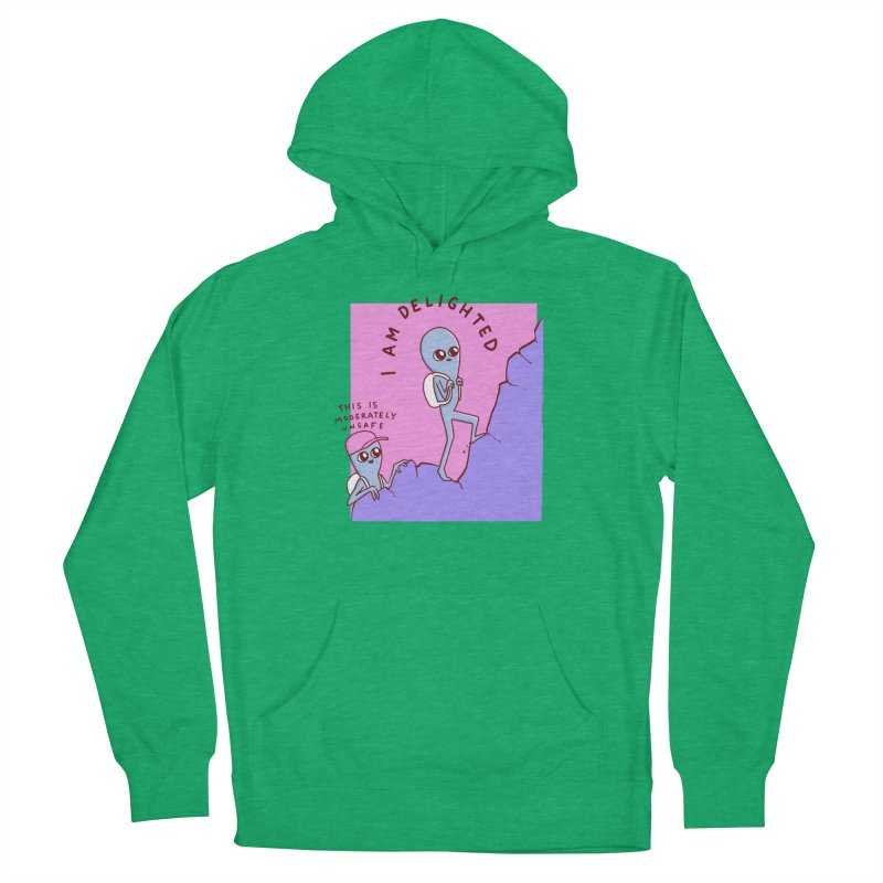 STRANGE PLANET SPECIAL PRODUCT: MODERATELY UNSAFE Women's Pullover Hoody by Nathan W Pyle