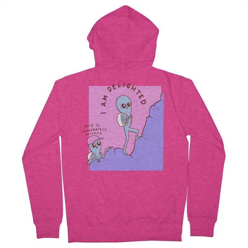 STRANGE PLANET SPECIAL PRODUCT: MODERATELY UNSAFE Women's Zip-Up Hoody by Nathan W Pyle