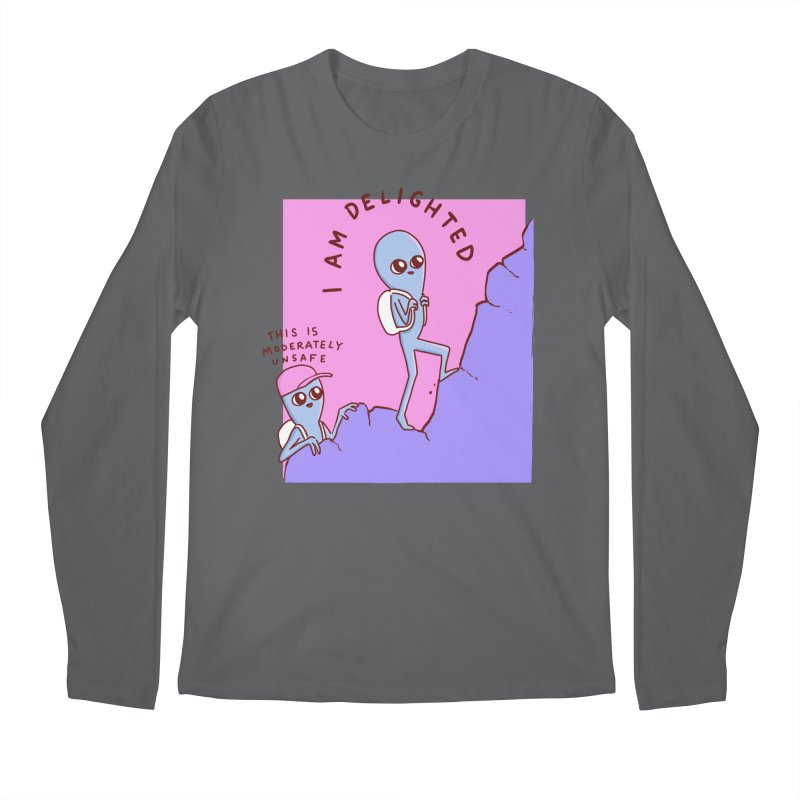 STRANGE PLANET SPECIAL PRODUCT: MODERATELY UNSAFE Men's Regular Longsleeve T-Shirt by Nathan W Pyle