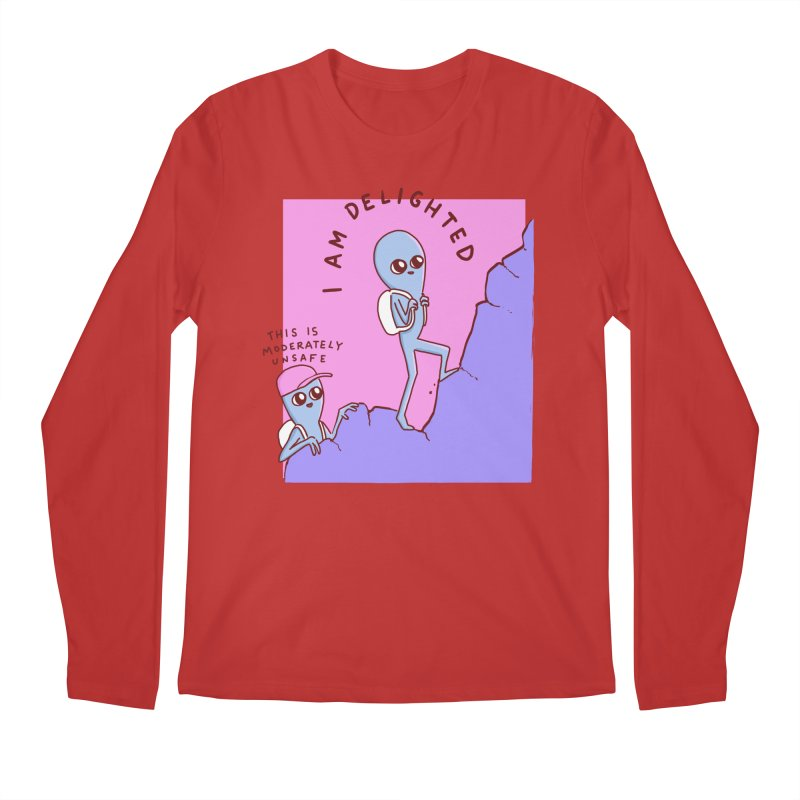 STRANGE PLANET SPECIAL PRODUCT: MODERATELY UNSAFE Men's Longsleeve T-Shirt by Nathan W Pyle