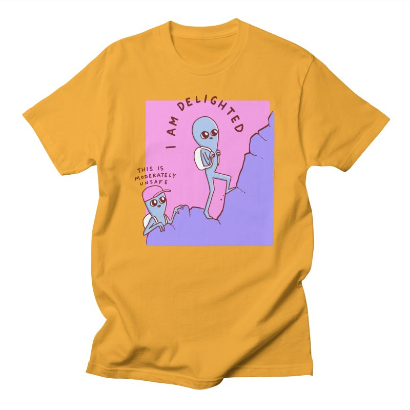 STRANGE PLANET SPECIAL PRODUCT: MODERATELY UNSAFE Men's T-Shirt by Nathan W Pyle