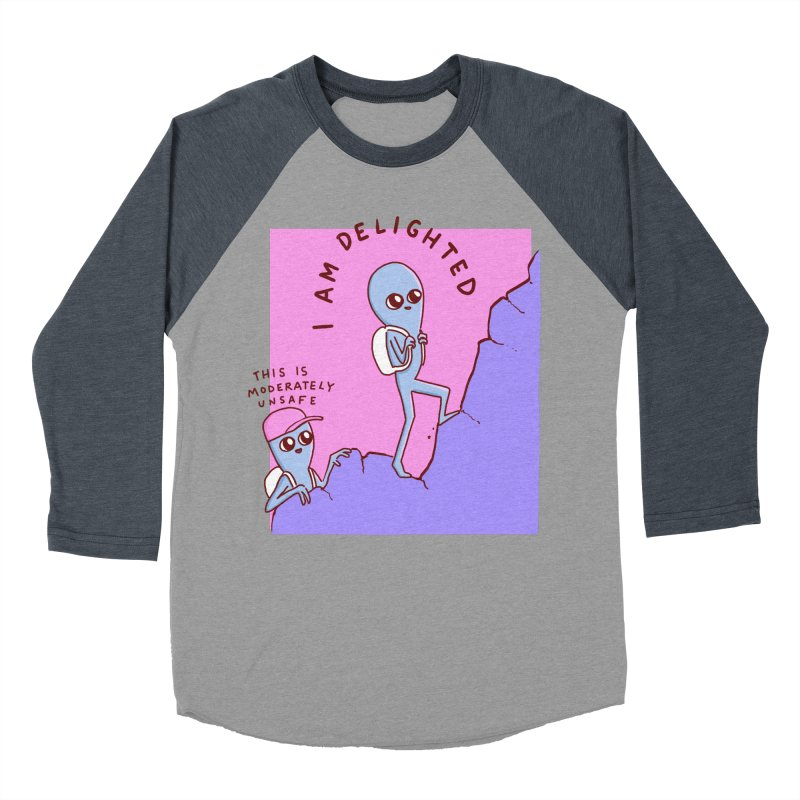 STRANGE PLANET SPECIAL PRODUCT: MODERATELY UNSAFE Men's Baseball Triblend Longsleeve T-Shirt by Nathan W Pyle