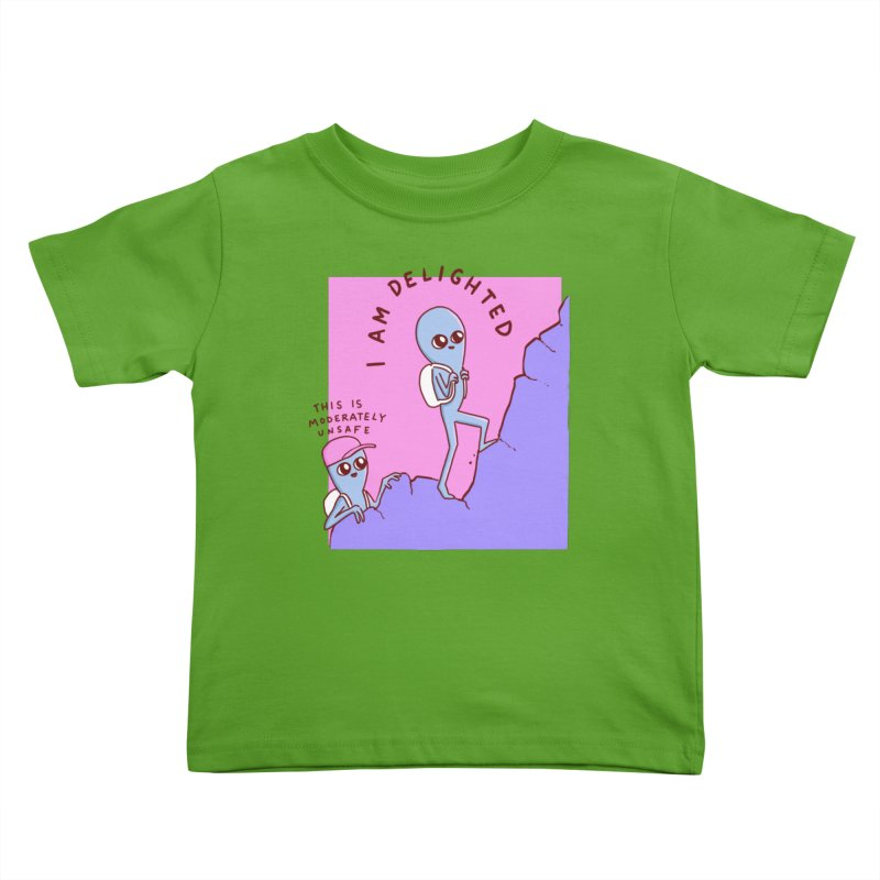 STRANGE PLANET SPECIAL PRODUCT: MODERATELY UNSAFE Kids Toddler T-Shirt by Nathan W Pyle