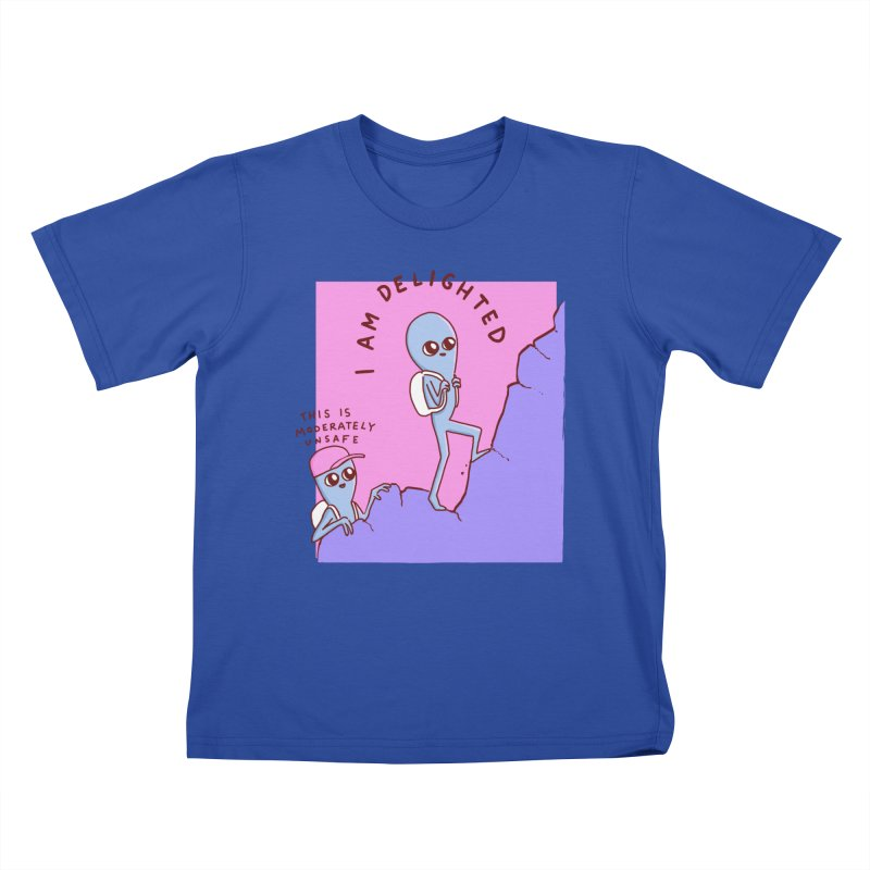 STRANGE PLANET SPECIAL PRODUCT: MODERATELY UNSAFE Kids T-Shirt by Nathan W Pyle