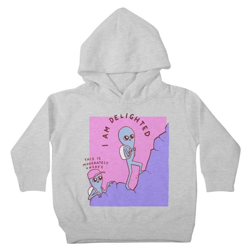 STRANGE PLANET SPECIAL PRODUCT: MODERATELY UNSAFE Kids Toddler Pullover Hoody by Nathan W Pyle