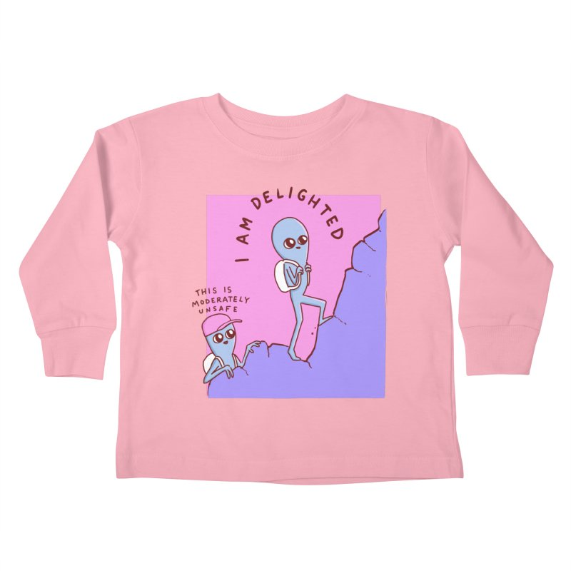 STRANGE PLANET SPECIAL PRODUCT: MODERATELY UNSAFE Kids Toddler Longsleeve T-Shirt by Nathan W Pyle