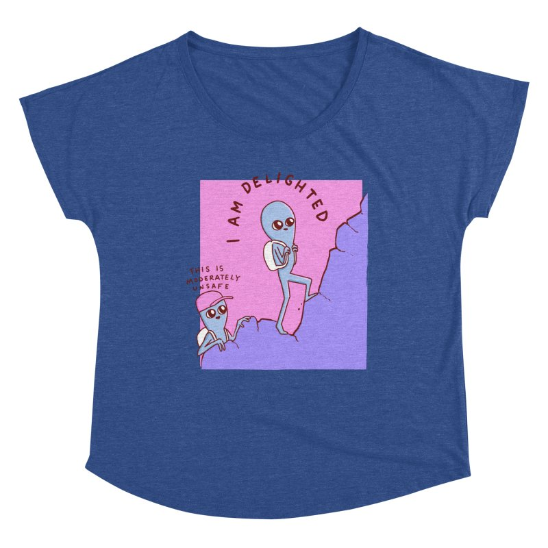 STRANGE PLANET SPECIAL PRODUCT: MODERATELY UNSAFE Women's Scoop Neck by Nathan W Pyle