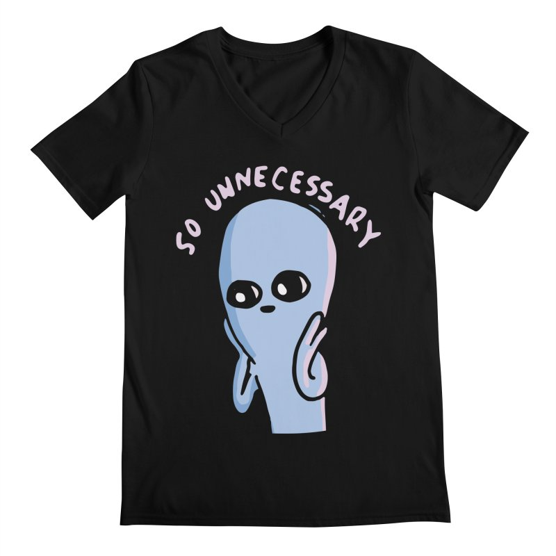 STRANGE PLANET SPECIAL PRODUCT: SO UNNECESSARY Men's Regular V-Neck by Nathan W Pyle