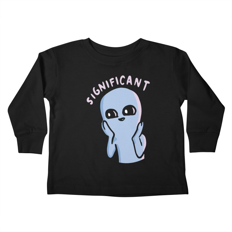 STRANGE PLANET SPECIAL PRODUCT: SIGNIFICANT Kids Toddler Longsleeve T-Shirt by Nathan W Pyle