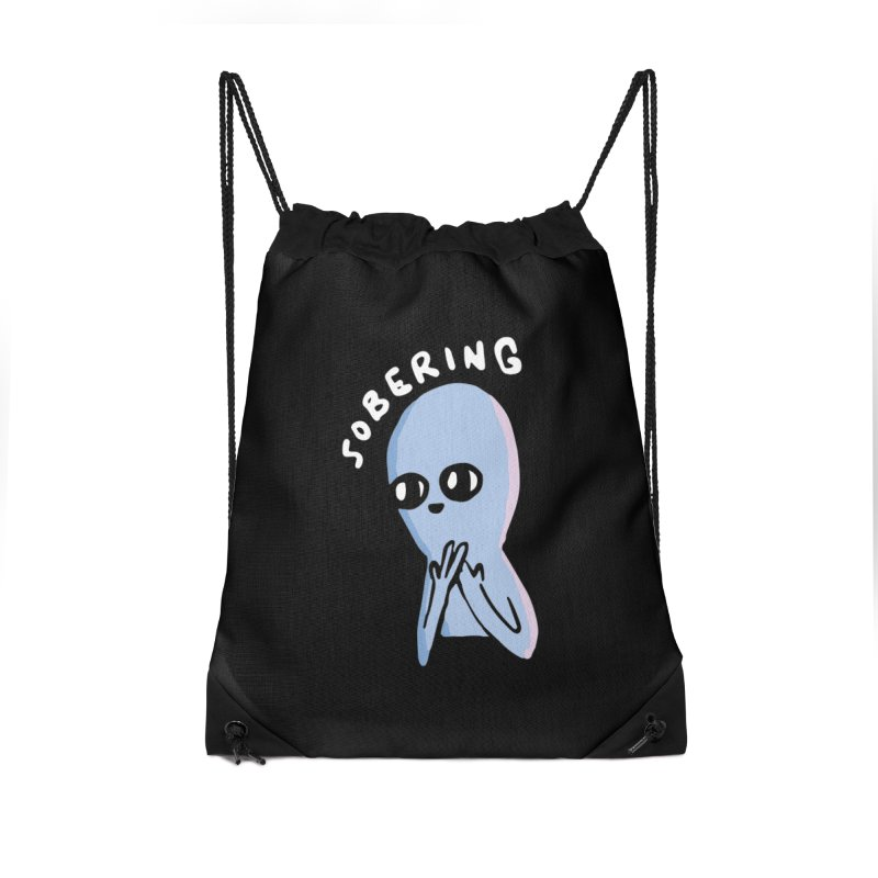 STRANGE PLANET SPECIAL PRODUCT: SOBERING Accessories Drawstring Bag Bag by Nathan W Pyle