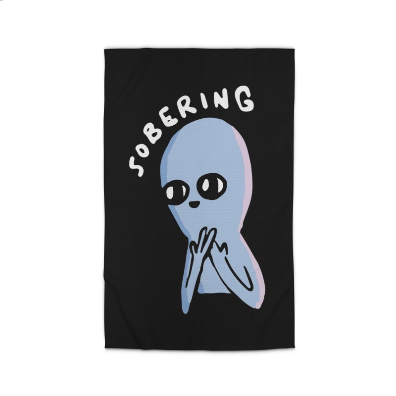 STRANGE PLANET SPECIAL PRODUCT: SOBERING Home Rug by Nathan W Pyle