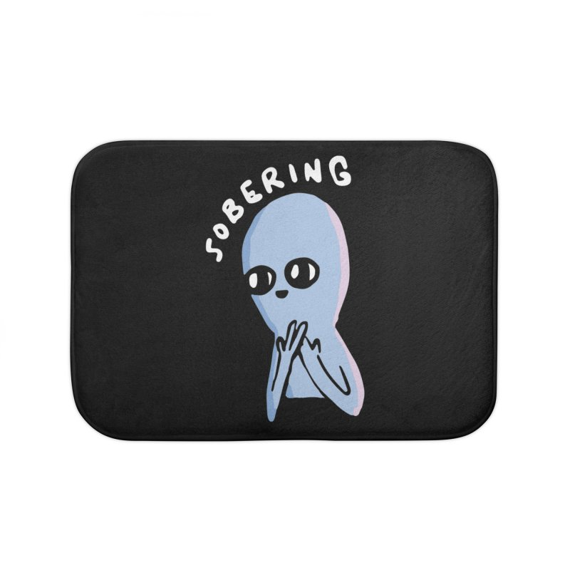 STRANGE PLANET SPECIAL PRODUCT: SOBERING Home Bath Mat by Nathan W Pyle