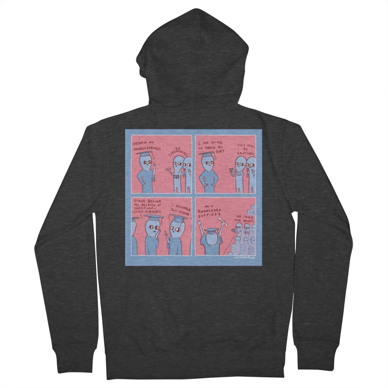STRANGE PLANET: MY KNOWLEDGE SUFFICES Women's French Terry Zip-Up Hoody by Nathan W Pyle