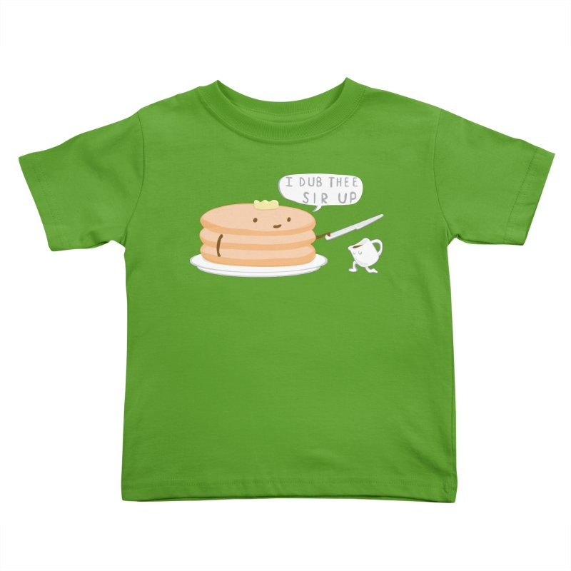 KNIGHT OF THE BREAKFAST TABLE! Kids Toddler T-Shirt by Nathan W Pyle Shop | Strange Planet Store | Thread