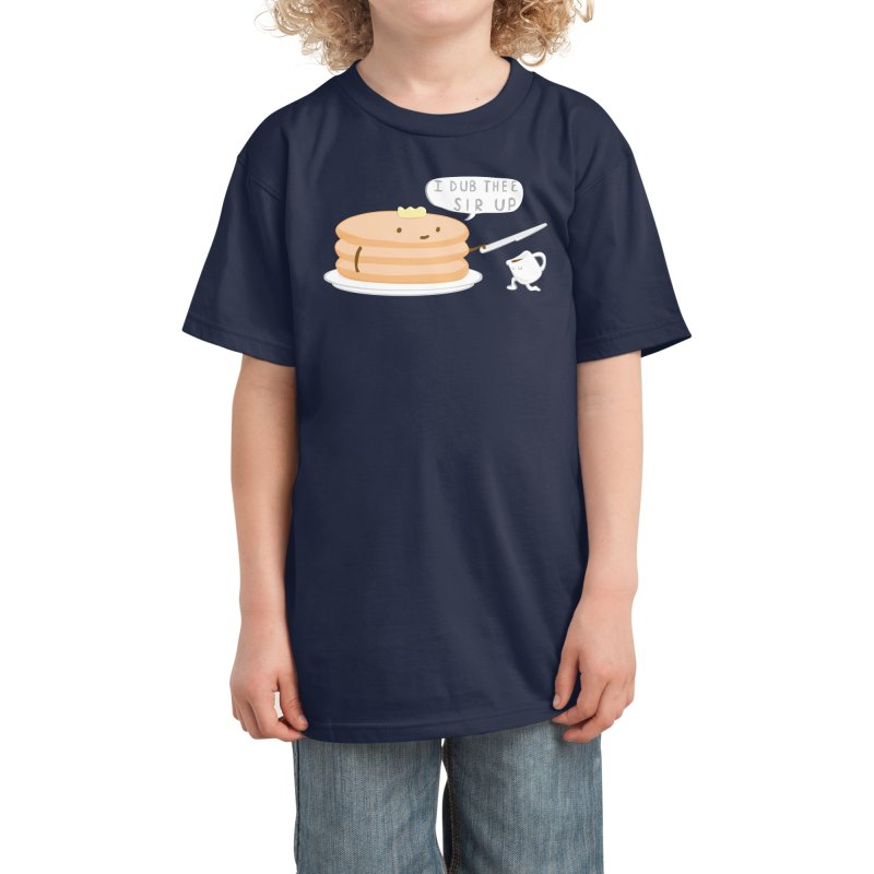 KNIGHT OF THE BREAKFAST TABLE! Kids T-Shirt by Nathan W Pyle Shop | Strange Planet Store | Thread