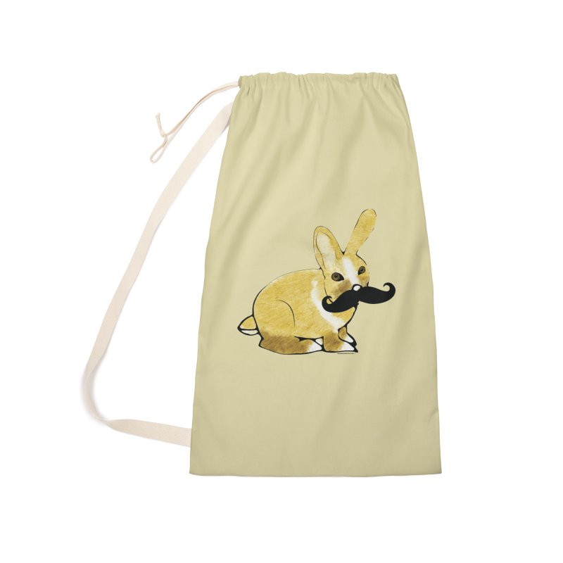 Bunny Rabbit w/ Mustache - Countess Hare Pamela Accessories Laundry Bag Bag by Natina Norton Designs