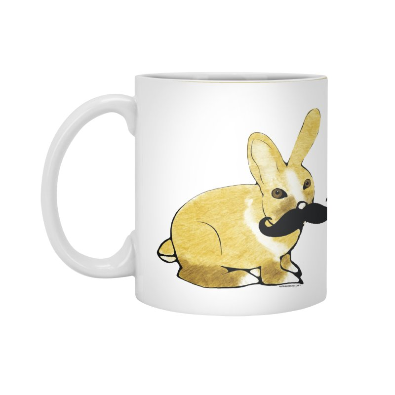 Bunny Rabbit w/ Mustache - Countess Hare Pamela Accessories Standard Mug by Natina Norton Designs