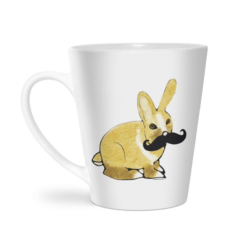 Bunny Rabbit w/ Mustache - Countess Hare Pamela Accessories Latte Mug by Natina Norton Designs