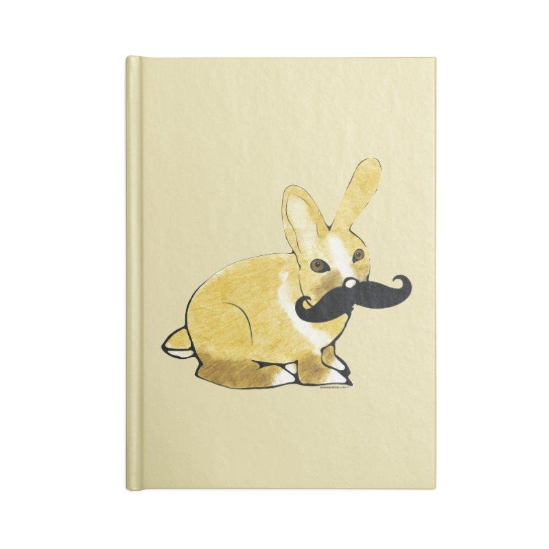 Bunny Rabbit w/ Mustache - Countess Hare Pamela Accessories Notebook by Natina Norton Designs