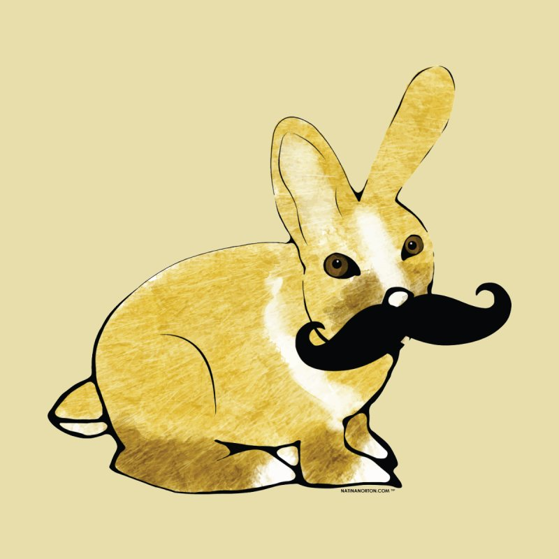 Bunny Rabbit w/ Mustache - Countess Hare Pamela Kids T-Shirt by Natina Norton Designs