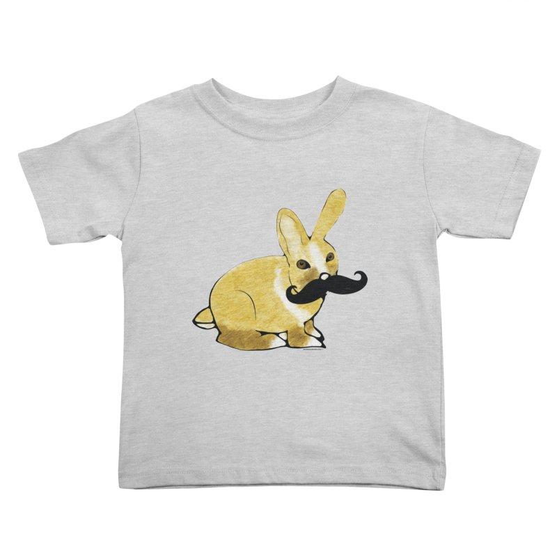 Cheeky Bunny Kids Toddler T-Shirt by Natina Norton Designs
