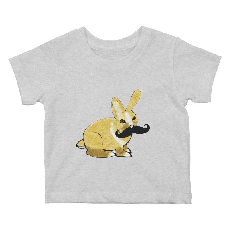 Cheeky Bunny Kids Baby T-Shirt by Natina Norton Designs