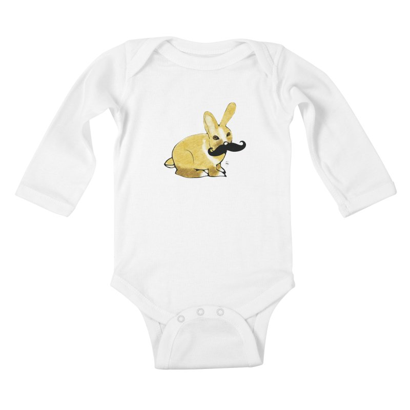 Countess Hare Pamela Kids Baby Longsleeve Bodysuit by Hardcore Hardwear & Design Shop
