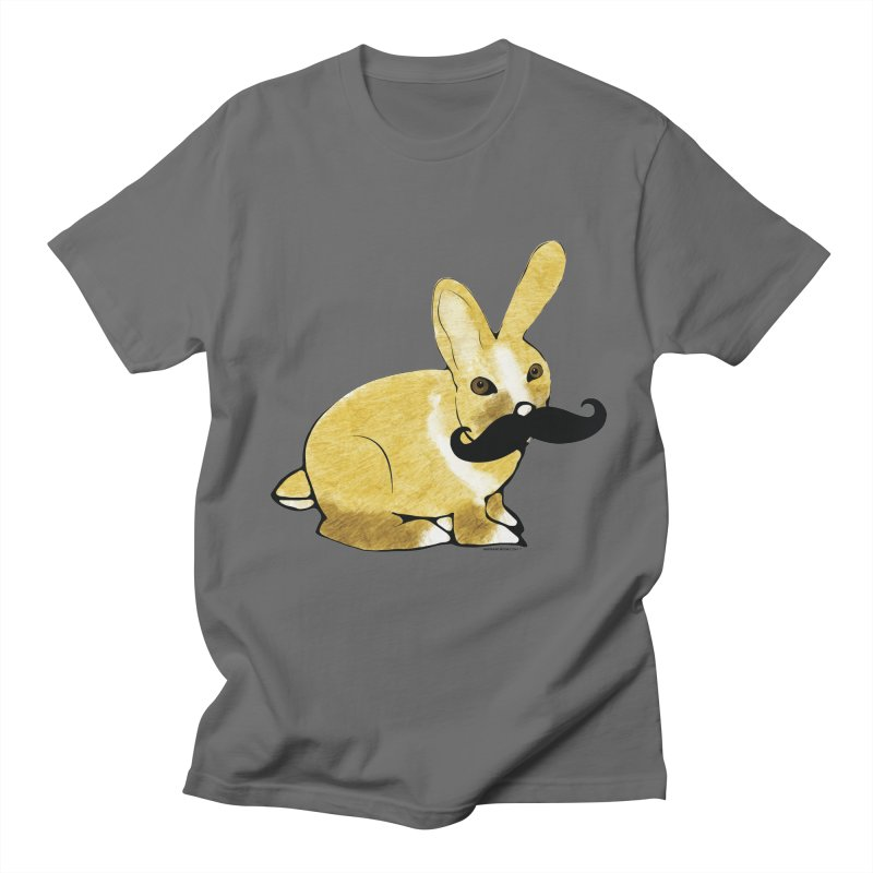 Bunny Rabbit w/ Mustache - Countess Hare Pamela in Men's Regular T-Shirt Asphalt by Natina Norton Designs