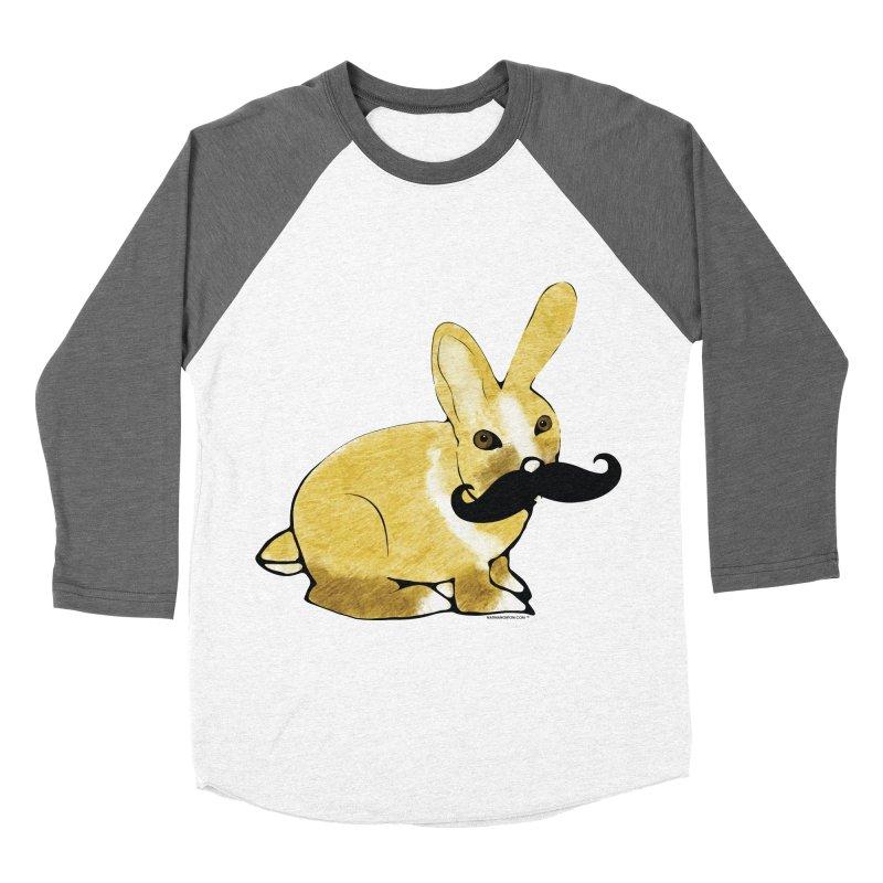 Bunny Rabbit w/ a Mustache - Countess Hare Pamela Men's Baseball Triblend Longsleeve T-Shirt by Natina Norton Designs