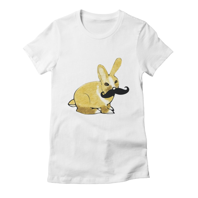 Countess Hare Pamela - Bunny Women's Fitted T-Shirt by Natina Norton Designs