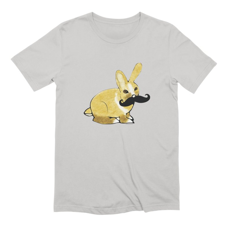 Bunny Rabbit w/ Mustache - Countess Hare Pamela Men's T-Shirt by Natina Norton Designs
