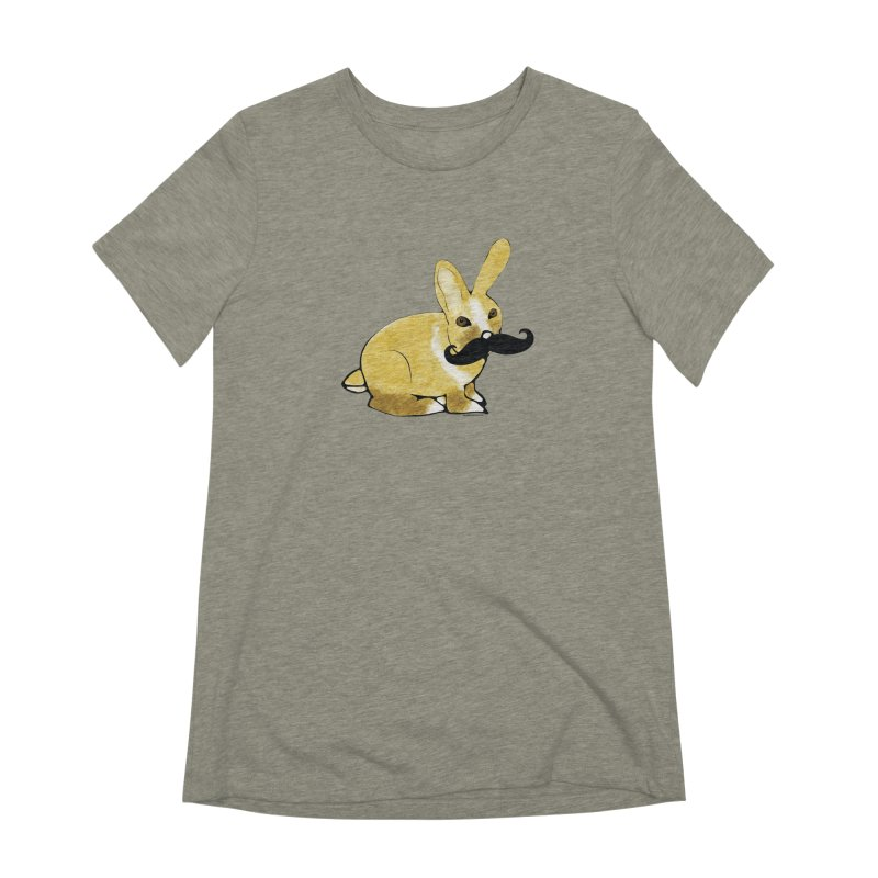 Bunny Rabbit w/ Mustache - Countess Hare Pamela Women's Extra Soft T-Shirt by Natina Norton Designs