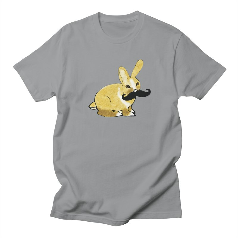 Bunny Rabbit w/ Mustache - Countess Hare Pamela Women's Regular Unisex T-Shirt by Natina Norton Designs