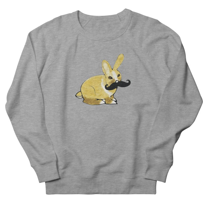Bunny Rabbit w/ Mustache - Countess Hare Pamela Men's French Terry Sweatshirt by Natina Norton Designs