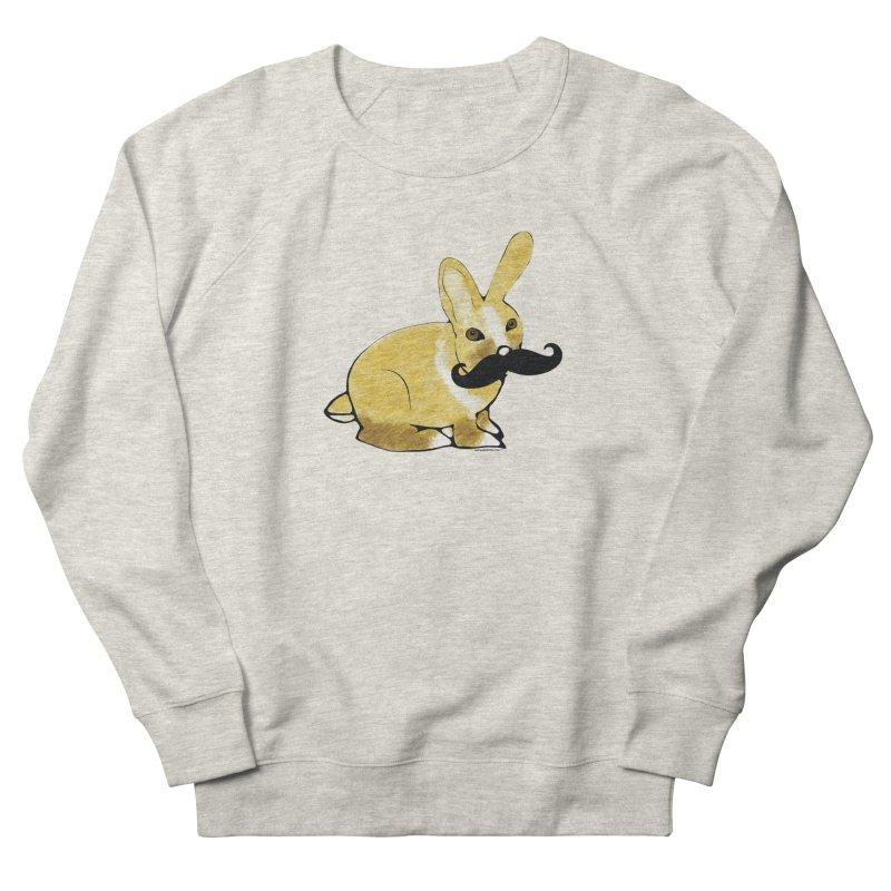 Bunny Rabbit w/ Mustache - Countess Hare Pamela Men's French Terry Sweatshirt by Natina Norton Designs