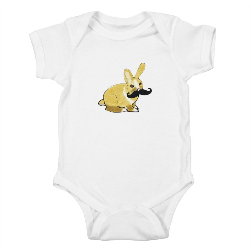 Bunny Rabbit w/ Mustache - Countess Hare Pamela Kids Baby Bodysuit by Natina Norton Designs