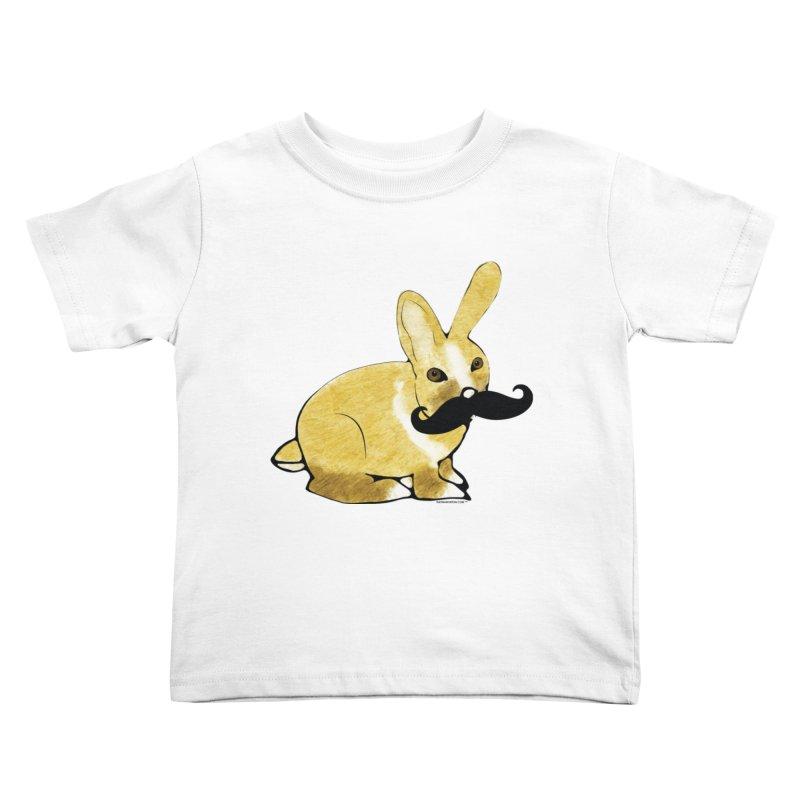 Bunny Rabbit w/ Mustache - Countess Hare Pamela Kids Toddler T-Shirt by Natina Norton Designs