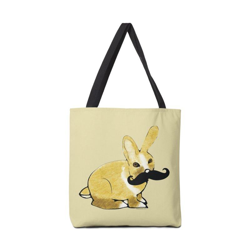 Bunny Rabbit w/ Mustache - Countess Hare Pamela Accessories Bag by Natina Norton Designs