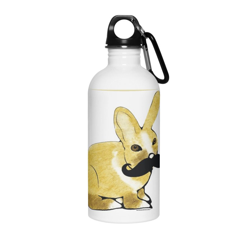 Bunny Rabbit w/ Mustache - Countess Hare Pamela Accessories Water Bottle by Natina Norton Designs