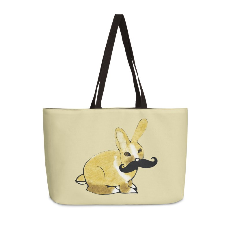 Bunny Rabbit w/ a Mustache - Countess Hare Pamela Accessories Bag by Natina Norton Designs
