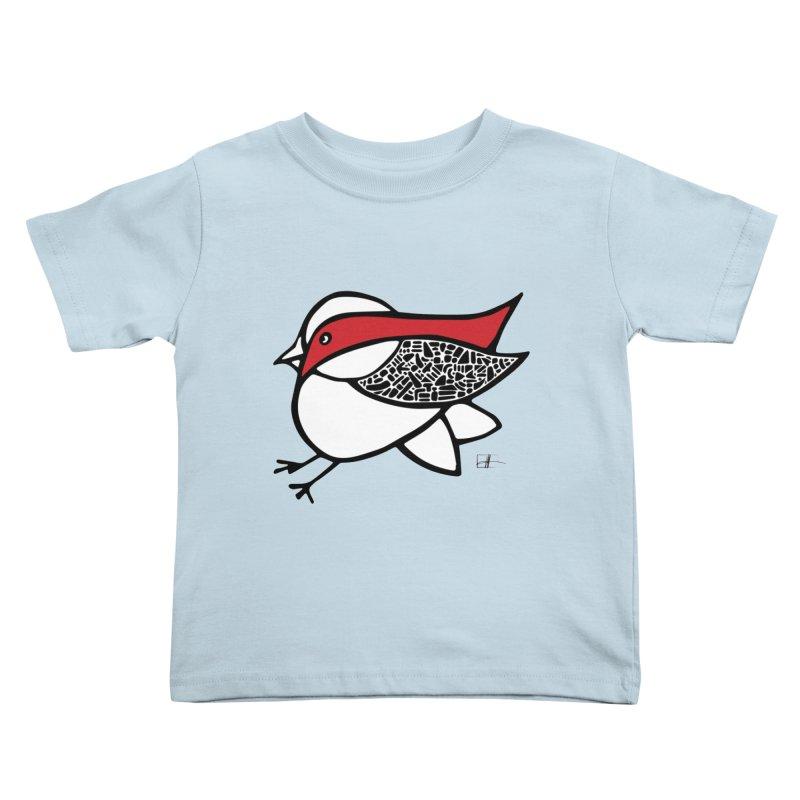 Chubby Birdie Felix Kids Toddler T-Shirt by Hardcore Hardwear & Design Shop