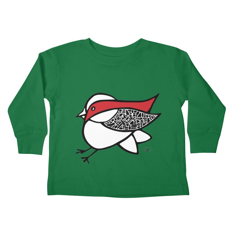 Chubby Birdie Felix Kids Toddler Longsleeve T-Shirt by Hardcore Hardwear & Design Shop