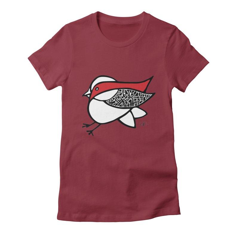 Chubby Birdie Felix Women's Fitted T-Shirt by Hardcore Hardwear & Design Shop