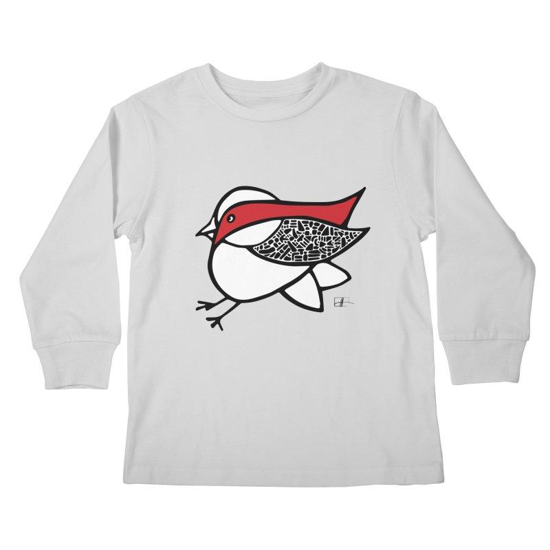 Chubby Birdie Felix Kids Longsleeve T-Shirt by Hardcore Hardwear & Design Shop