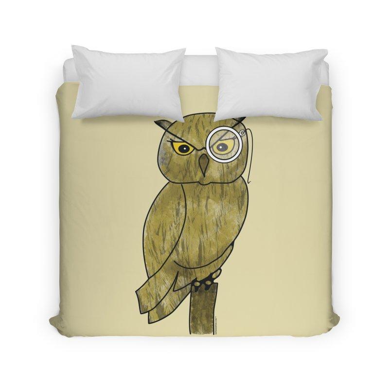 Sir Hootington - Owl Home Duvet by Natina Norton Designs