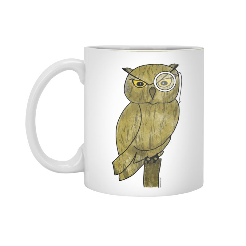 Sir Hootington - Owl in Standard Mug White by Natina Norton Designs
